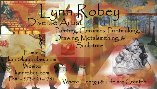 Lynn Robey, Diverse Artist, Business Card