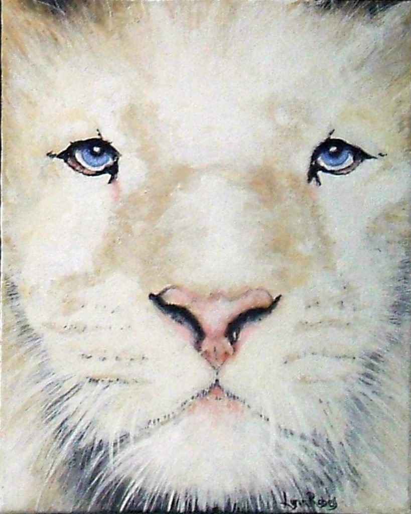 White Lion painting by Lynn Robey