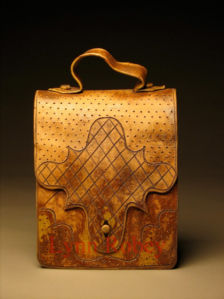 Ceramic Book Bag by Lynn Robey