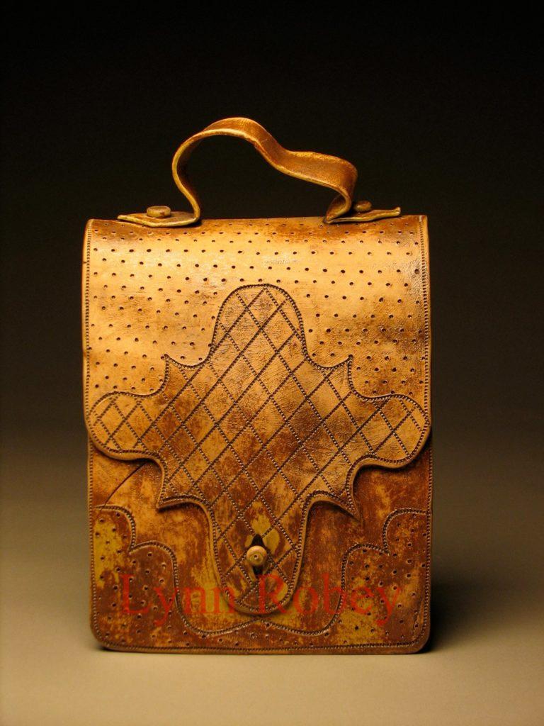 Ceramic Book Bag by Lynn Robey